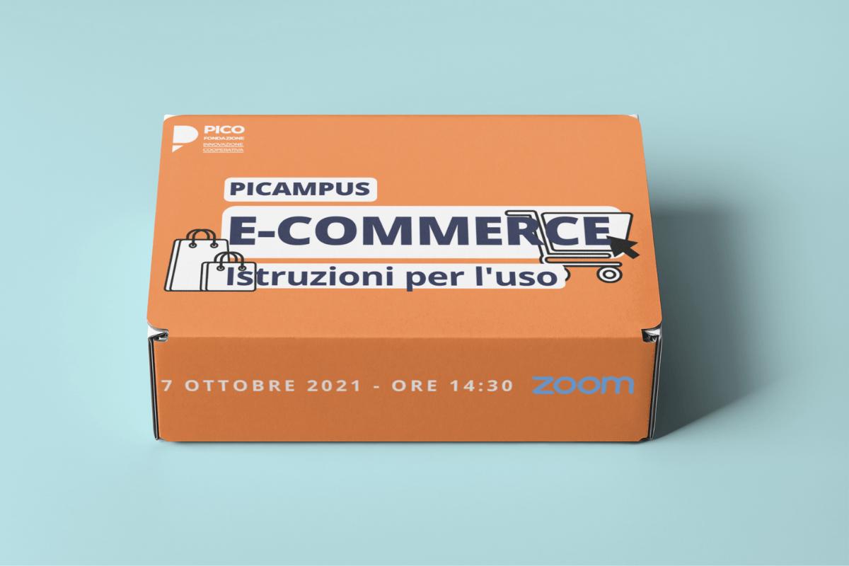 """PICAMPUS: Giovedì 7 ottobre ore 14.30 – Webinar Zoom """"E.commerce – Istruzioni per l'uso"""""""