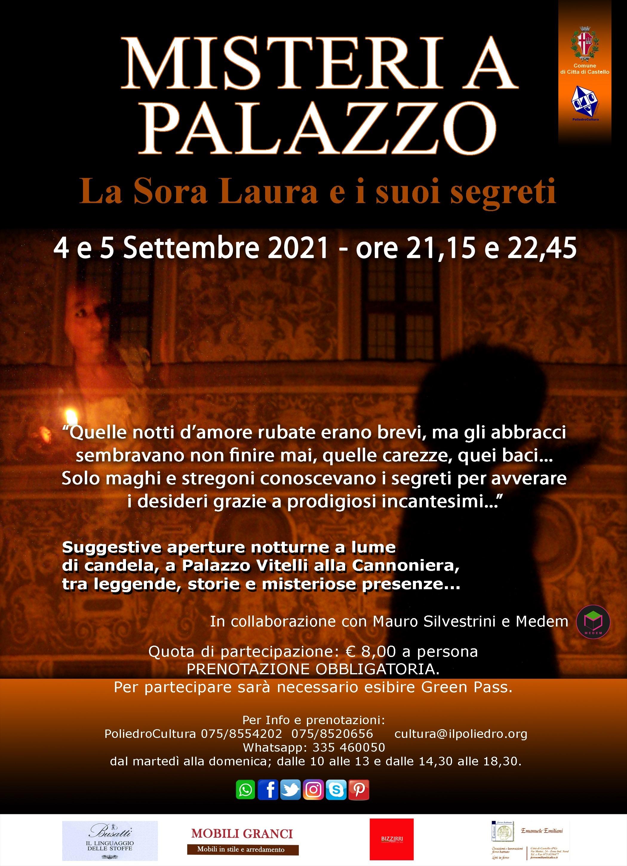 """Coop. Il Poliedro – Sabato 4 e Domenica 5 Settembre """"Misteri a Palazzo – Pinacoteca Comunale Città di Castello"""""""