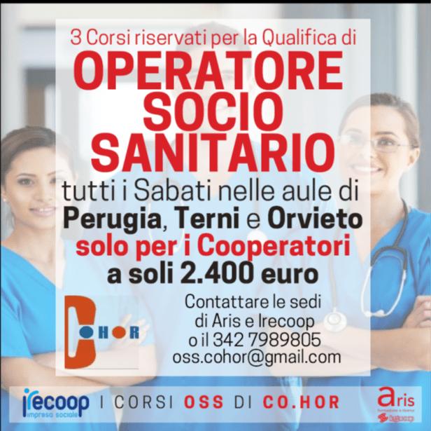 Consorzio Co.Hor: Promozione Corsi Operatore Socio Sanitario rivolti ai cooperatori